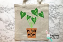 Plant Mom SVG - Mother's Day SVG - Monstera Clipart Product Image 1