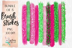 Summer Watermelon Brush Strokes - Bold Bundle of 15 PNG Product Image 1