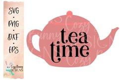 Tea Time SVG - Cute Teapot Clip Art Product Image 1