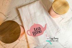 Tea Time SVG - Cute Teapot Clip Art Product Image 2