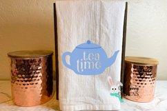 Tea Time SVG - Cute Teapot Clip Art Product Image 3
