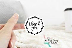 Thank You Sticker Bundle - Gracias, Merci SVG Round Stickers Product Image 5