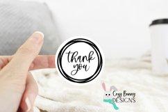 Thank You Sticker Bundle - Gracias, Merci SVG Round Stickers Product Image 3