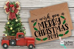 We Wish You a Merry Christmas SVG - Merry Christmas 2021 Product Image 1