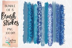 Winter Blue Brush Strokes - Ice Castle Bundle of 15 PNG Product Image 1