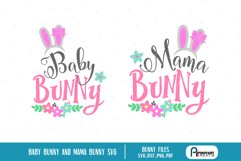 mama bunny svg, baby bunny svg, bunny svg, bunny svg file Product Image 1