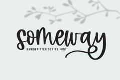 Someway - A Handwritten Script Font Product Image 1