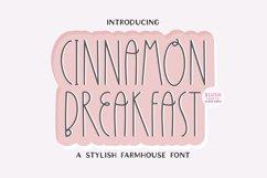 CINNAMON BREAKFAST a Decorative Farmhouse Font Product Image 1