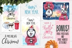 CHRISTMAS AND DOGS watercolor set Product Image 6
