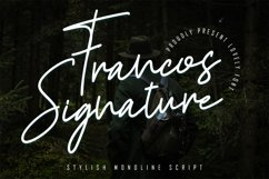 Francos Signature - Stylish Monoline Font Product Image 1