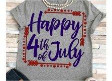 July svg SVG DXF JPEG Silhouette Cameo Cricut July svg iron on family svg Happy 4th of July svg Product Image 1