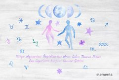 Night Sky Celestial Seamless Digital Papers and Alphabet Product Image 3