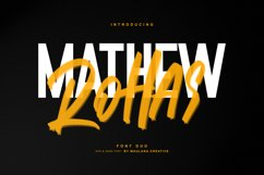 Mathew Rohas Brush Font Duo Product Image 1