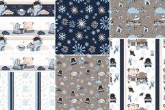 6 seamless pattern Winter Bears version B, repeat pattern Product Image 2