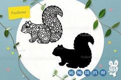 Floral squirrel svg, animals svg Product Image 2