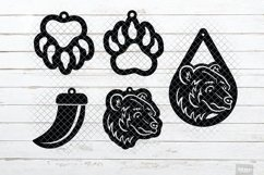 Bear Earrings SVG Designs in SVG, DXF, PNG, EPS, JPEG Product Image 3