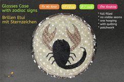 ITH - Glasses Case with Zodiac Scorpio - Embroidery file Product Image 4