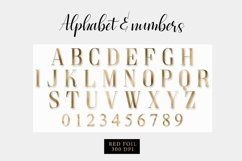 Alphabet gold, gold letter Product Image 2