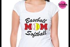 Baseball Softball Mom - SVG, DXF, EPS Cut Files Product Image 2