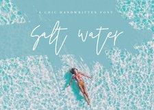 Salt Water - Handwritten Chic Font Product Image 1