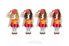 Fall Clipart, Autumn fashion Illustration Product Image 2