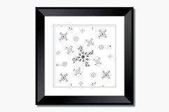 Floral Doodle Ink Pattern, A1, SVG Product Image 6