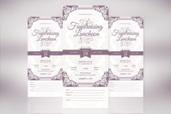 Vintage Luncheon Ticket Template Product Image 1