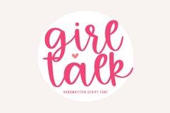 Girl Talk - A Handwritten Script Font Product Image 1