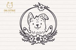 Valentine Dog svg , Puppy with floral decor Svg Product Image 3