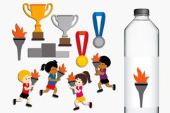 Summer sport running marathon torch clip art graphics Product Image 1