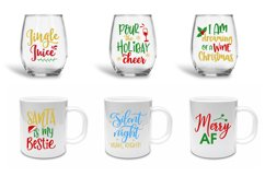 Funny Christmas Quotes Bundle - SVG, EPS, DXF, PNG Product Image 2