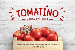 Tomatino. Handmade Font Product Image 1