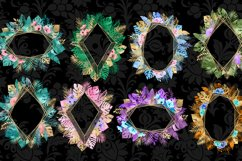 Tropical Gold Polygonal Frames Clipart Product Image 2