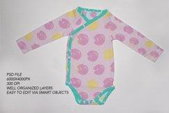 Long Sleeve baby bodysuit, onesie Mockup. Product Image 2