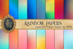 16 Rainbow Gradient Texture Digital Papers, Fairy Tale Paper Product Image 1