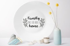 Family makes this house a home svg dxf Family Quote clipart Product Image 2