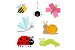 Cute cartoon insect set. Vector Product Image 2