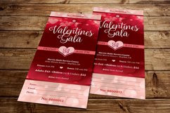 Red Hearts Valentines Gala Ticket Template Product Image 3