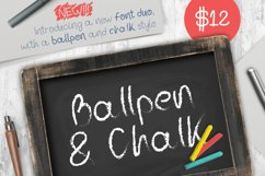 Ballpen and Chalk Typeface Product Image 1