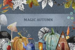 Autumn watercolor and ink set. Product Image 1