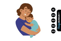 Mom and Baby Boy Clipart Product Image 1