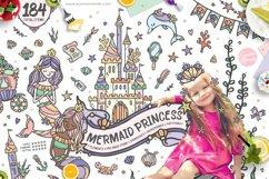 Mermaid Princess - Cute Summer Girl Clipart Product Image 1