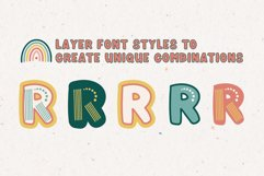 Rainboho   A Layered Abstract Font Family Product Image 5
