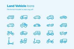 Land Vehicle 20 Icons Product Image 1
