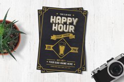 Classic Happy Hour Drinks Flyer Product Image 1