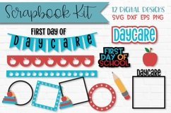 Daycare First Day of School Scrapbook Kit Product Image 1