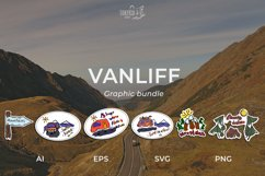 VanLife Graphic. 9 color illustration in doodle style Product Image 2