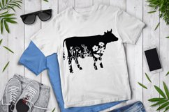 Floral Cow SVG, Flower Cow SVG Cut File, Floral Cow Clipart. Product Image 2
