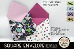 Square Envelope SVG - Square Envelope SVG Cutting File Product Image 3