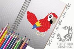 Cute Parrot SVG, Silhouette Studio, Cricut, Eps, Dxf, AI Product Image 1